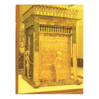Replica  Vintage Egypt, Cairo Museum, gold coffin Postcard