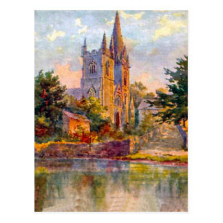 Replica Vintage Image, Cardiff, Llandaff Cathedral Postcard