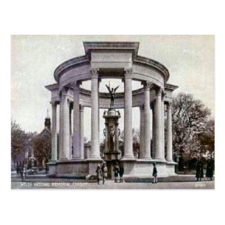 Replica Vintage Image, cardiff, National Memorial Postcard