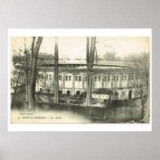 Replica Vintage image, Mont de Marsan, Arena Poster