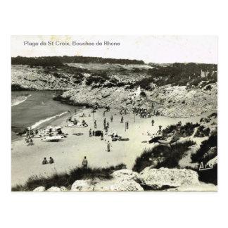 Replica vintage, Plage de St Croix, Bouches de Rho Postcard