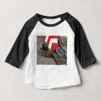 Replicas of medieval helmets, shields and swords baby T-Shirt