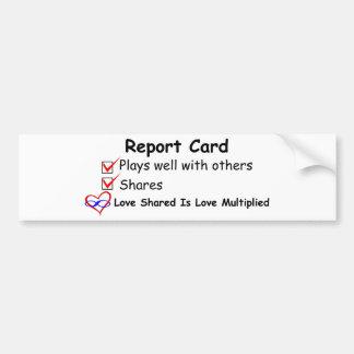 Report Card Bumper Sticker