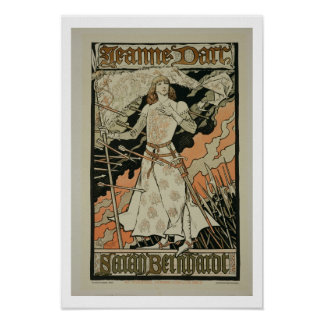 Reproduction of a poster advertising 'Joan of Arc'