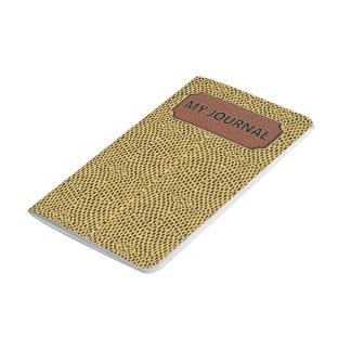 Reptile Gold Black My Journal Pocket Journal