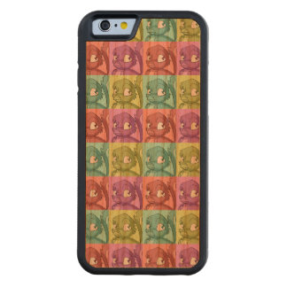 Reptilian Bird Pop Art Pattern Carved Cherry iPhone 6 Bumper Case