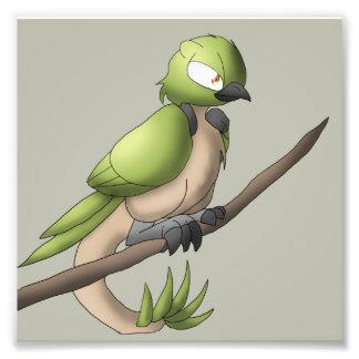Reptilian Bird Reptile Avian Hybrid Animal Art Photo Print