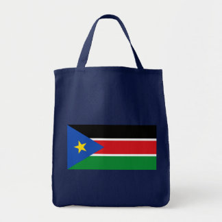 Republic of South Sudan Flag on Tshirts and Gifts Grocery Tote Bag