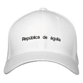 República de águila white baseball style fitted baseball cap