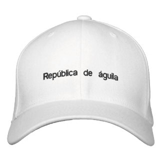 República de águila white baseball style fitted embroidered hat