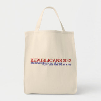 Republican 2012 satire canvas bags