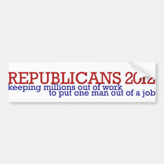 Republican 2012 satire bumper sticker