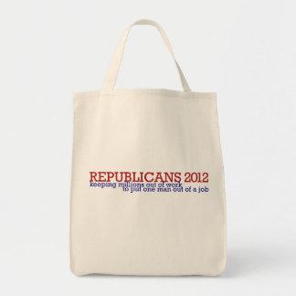 Republican 2012 satire grocery tote bag