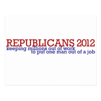 Republican 2012 satire postcard