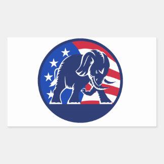 Republican Elephant Flag Rectangular Sticker