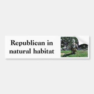 Republican in natural habitat car bumper sticker