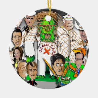 Republicans net Frankenstein Round Ceramic Decoration