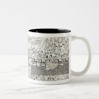 Repulse of the French Gun-boats Two-Tone Coffee Mug