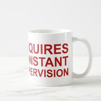 Requires Constant Supervision Basic White Mug