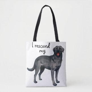 Rescue Black Lab Tote Bag