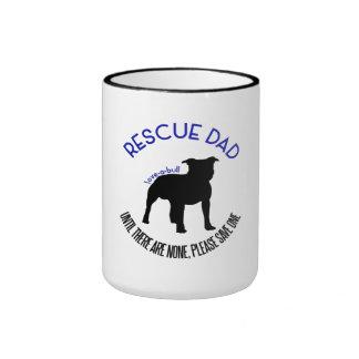 "Rescue Dad ""Love A Bull"" Pit Bull Rescue Mug"