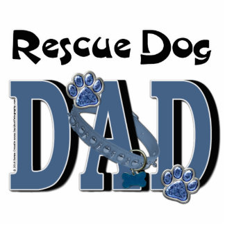Rescue Dog DAD Standing Photo Sculpture