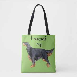 Rescue Gordon Setter Tote Bag