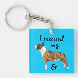 Rescue Miniature Bull Terrier Key Ring