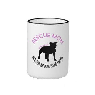 """Rescue Mom """"Love A Bull"""" Pit Bull Rescue Mug"""