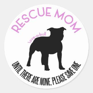 """Rescue Mom """"Love A Bull"""" Pit Bull Rescue Stickers"""