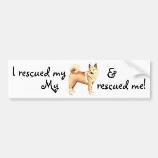 Rescue Norwegian Buhund Bumper Sticker