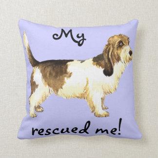 Rescue Petit Basset Griffon Vendéen Throw Pillow