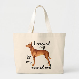 Rescue Pharaoh Hound Large Tote Bag