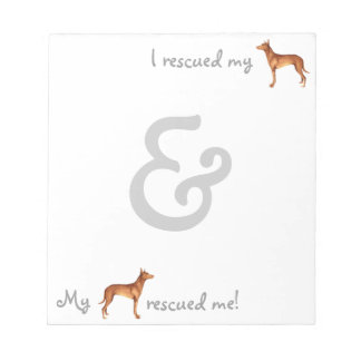 Rescue Pharaoh Hound Notepad
