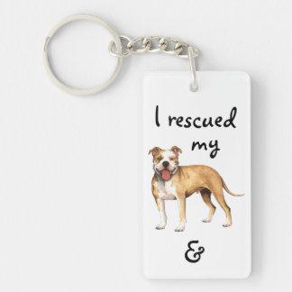 Rescue Pit Bull Terrier Key Ring