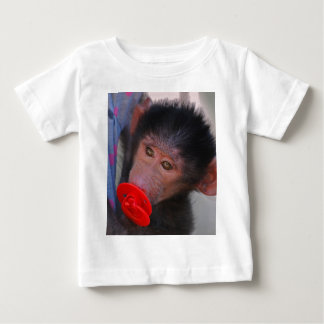 Rescued Baby Ape with a dummy Baby T-Shirt