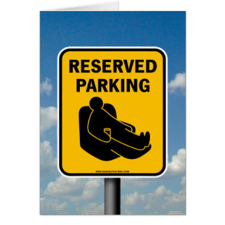 Reserved Parking Card