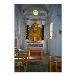 Reserved sacrament chapel in a Swiss Church Poster