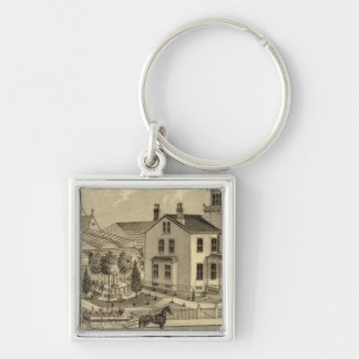 Residence and Greenhouse of John Lent Sewickley Key Ring