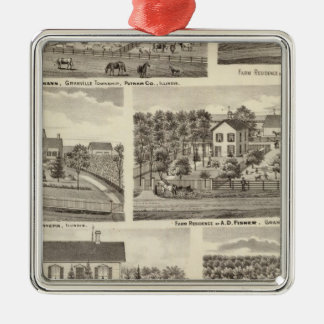 Residences and farm residences in Putnam Co 2 Silver-Colored Square Decoration