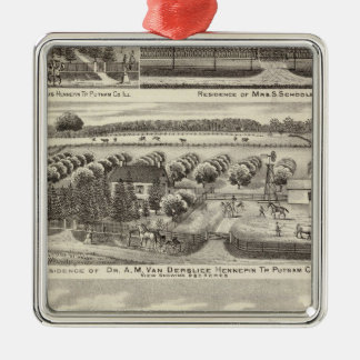 Residences and farm residences in Putnam Co Silver-Colored Square Decoration