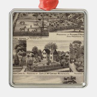 Residences and farms in Edgar, Hardin, Massac Christmas Ornament