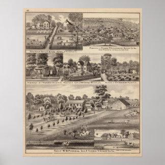 Residences and farms in Edgar, Hardin, Massac Poster
