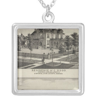 Residences, Grove, Mills, Factory, Emporia, Kansas Silver Plated Necklace