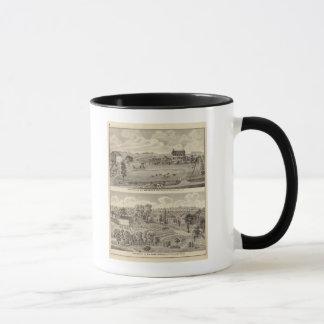 Residences of HJ Swindler and W Haws Mug