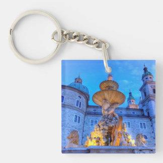 Residenzplatz in Salzburg, Austria Key Ring