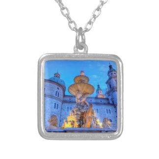 Residenzplatz in Salzburg, Austria Silver Plated Necklace