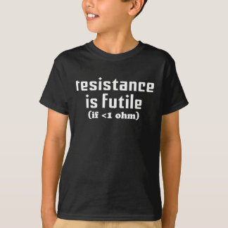 Resistance Is Futile Kids Dark Shirt