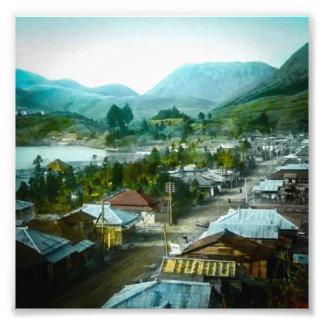 Resort Village of Hakon Lake Ashi in Old Japan Photo Print