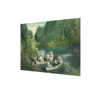 Resorters Boating at the Springs Canvas Print